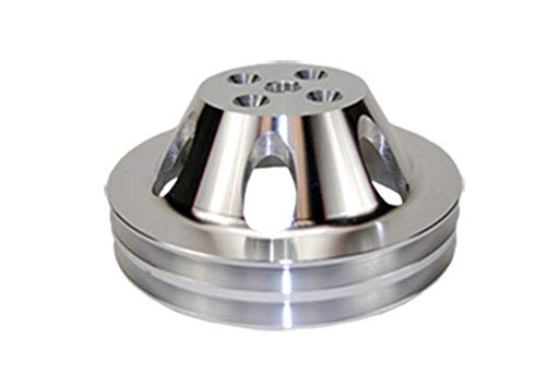 Pirate Mfg Bbc Chevy 396-454 Machined Aluminum Swp Double Groove Water Pump Pulley ()
