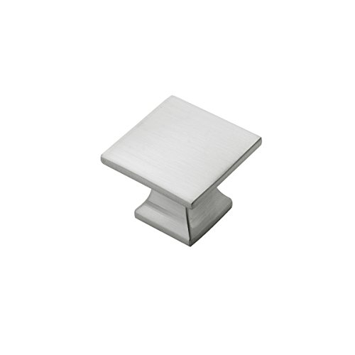 Hickory Hardware P3028-SN-10B Studio Collection Knob 1-1/4 Inch Diameter, Square, Satin Nickel, 10 Each