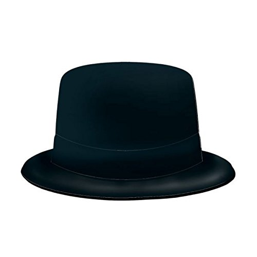 Hat Top Accessory (Amscan Glamorous 20's Old Hollywood Themed Party Felt Top Hat Accessories, Black, 4