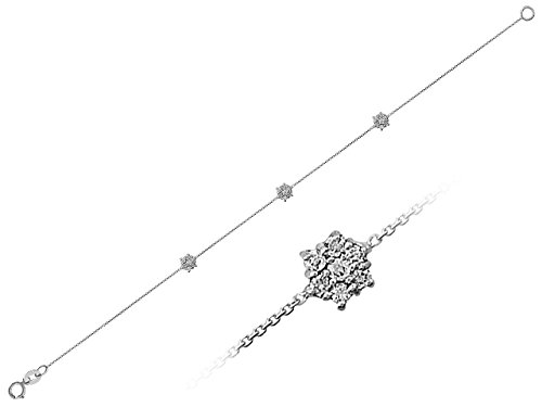 Bracelet Chaîne Diamants-Femme- or Blanc 217B0004