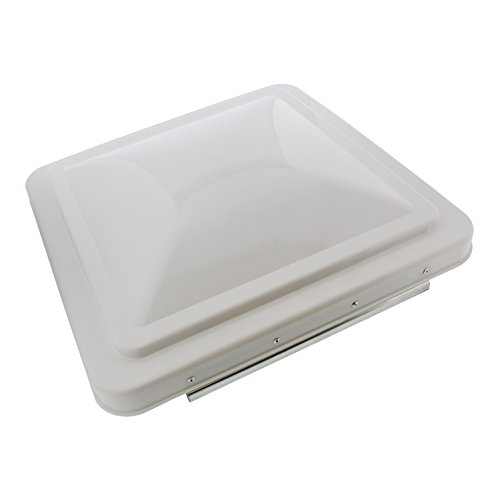 "ABN Plastic Air Vent Lid, 14"" x 14"" Inch, Opaque White – Outdoor RV, Camper, Trailer UV-Resistant Ceiling Roof Cover"