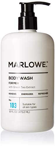 MARLOWE. No. 103 Men's Body Wash 16 oz | Energizing & Refreshing | Made with Natural Ingredients | Aloe & Green Tea -