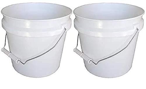 Leaktite 744456 1-Gallon White Plastic Pail Paint Pail/Container (2-(Pack)) ()