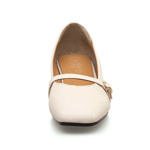 Coolcept Mujer Mary Jane Bombas Zapatos Beige