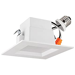 4 inch led recessed lighting square 5000k do it yourself store