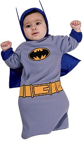 Rubie's Batman The Brave And The Bold Baby Bunting, Batman Print, 0-9 Months Costume