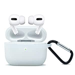 ZALU Compatible for AirPods Pro Case with Keychain Premium Silicone Cover Skin for AirPods Pro Charging Case (Clear)