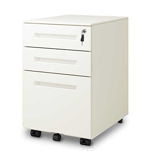 DEVAISE 3-Drawer Mobile Pedestal File Cabinet with