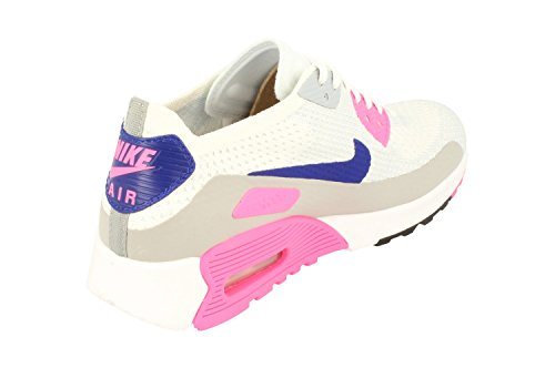 Nike Femmes Air Max 90 Ultra 2.0 Flyknit Formateurs De Course 881109 Baskets Chaussures (uk 8 Us 10.5 Eu 42.5, Blanc Concord Laser Rose 101)