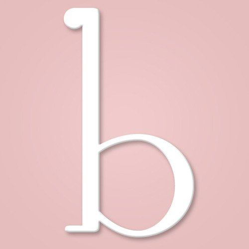 Wooden Wall Letter Hanging Initials Letter: B