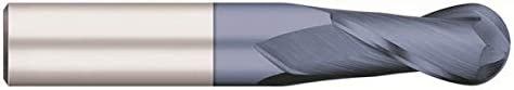 AlTiN Coated 1.0000 Flute Length RedLine Tools 30/° Helix Angle 4 Flute RE11723 Single End Ball Carbide End Mill 0.0489 2.5000 OAL 23//64