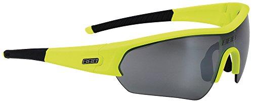 BBB Unisex BSG-43 Select Sport Glasses Neon, Black Tip, Smoke - Custom Sunglasses Neon