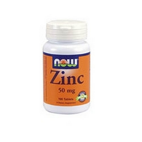 NOW Zinc Gluconate 50mg, 100 Tablets (Pack of 4)