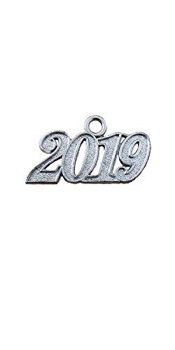 Graduation Tassel 2019 Year Charms (Silver)