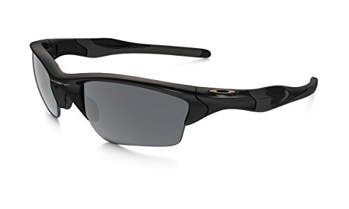 Oakley Men's Non-Polarized Half Jacket 2.0 Oval Sunglasses,Polished Black Frame/Black Iridium Lens, 62 mm ()