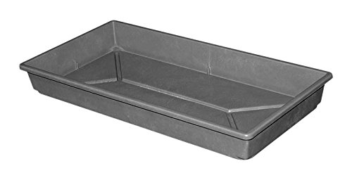 Toteline 1105085116 Nesting Grow Container, Seed Tray, Glass Fiber Reinforced Plastic Composite, 21.5 x 11 x 2.5 , Slate
