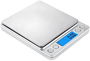 Digital Kitchen Pocket Scale 500g/0.01g High Precision Portable Food Jewelry Drug Scale with Platform LCD Display Tare and PCS Features Back-Lit LCD
