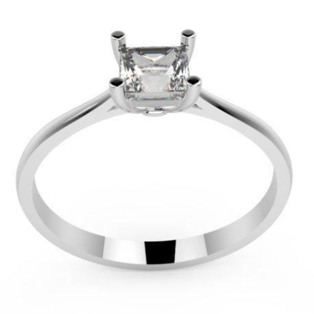 HARMONY Bagues Or Blanc 18 carats Saphir Blanc 0,6 Princesse