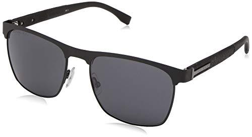 BOSS by Hugo Boss Men's Boss 0984/s Square Sunglasses, Matte Black, 57 mm