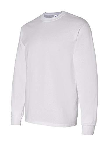Gildan Mens 5.3 oz. Heavy Cotton Long-Sleeve T-Shirt G540 -WHITE L ()