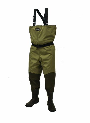 Frogg Toggs Canyon Bootfoot Cleated Wader, 10, Khaki/Stone