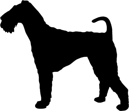 Airedale Terrier Dog Silhouette Vinyl Decal