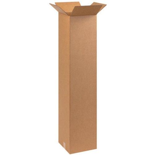 Aviditi 101048 Tall Corrugated Box, 10'' Length x 10'' Width x 48'' Height, Kraft (Bundle of 20) by Aviditi