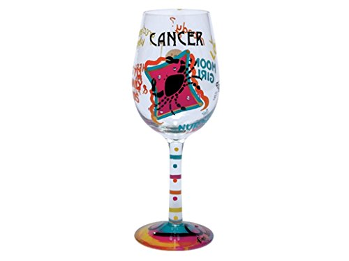 Lolita Love My Sign, Cancer Wine Glass