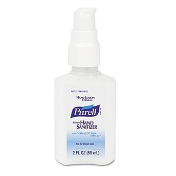 PURELL 9648-24 Instant Hand Sanitizer with Dermaglycerin System, 2 oz Pump Bottle (Case of 24)
