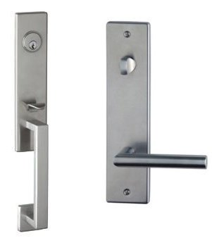 (Omnia Urban12PD Urban Dummy Handleset with Interior Lever 12, Brushed Stainless Steel)