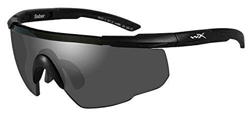 Wiley X Saber Advanced Sunglasses - Matte Black/Smoke Grey/Light Rust/Vermilion, Medium/X-Large by - Wiley Advanced Saber Sunglasses X