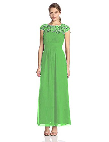 Abendkleider Beauty Emily lichtgrün mit lang Cal Spitze Maxi B5A5q4w