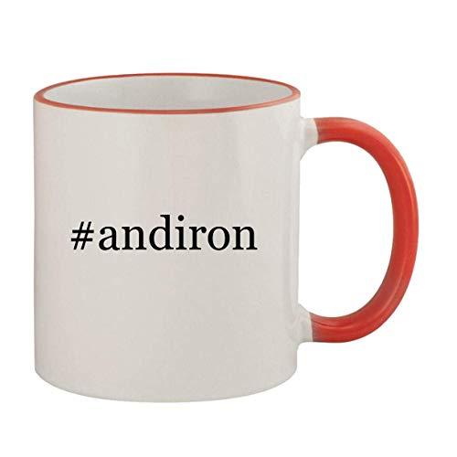 #andiron - 11oz Ceramic Colored Rim & Handle Coffee Mug, Red