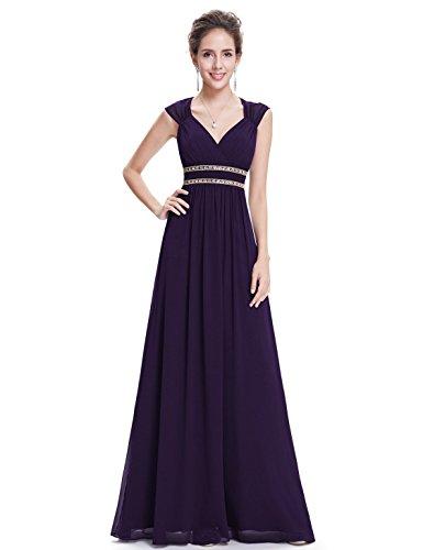 Ever Pretty Womens Grecian Style Empire Waist Long Prom Dress 12 US Purple
