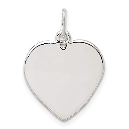 925 Sterling Silver Small Heart Pendant Charm Necklace Engravable Disc Love Fine Jewelry Gifts For Women For Her