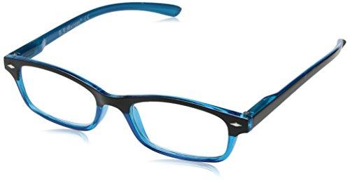 A.J. Morgan Unisex-Adult Hip Daddies - Power 1.00 54257 Rectangular Reading Glasses, BLACK/TEAL, - Eyewear Hip