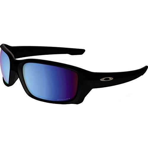 Oakley Men's Straightlink Polarized Iridium Rectangular Sunglasses, Matte Black w/Prizm Deep Water Polarized, 61 - Water Deep Black