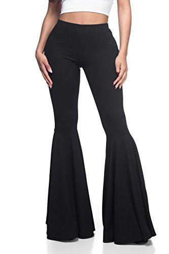 Women's J2 Love Mermaid Ruffle Flare Pants, Small, Black]()