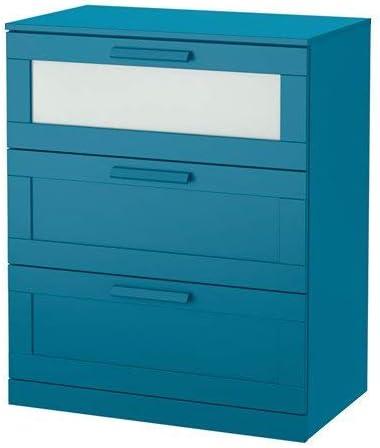 Amazon Com Ikea Brimnes 3 Drawer Chest Dark Green Blue Frosted