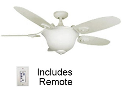 44 inch white ceiling fan with light and remote control - Bedroom ceiling fans with remote control ...