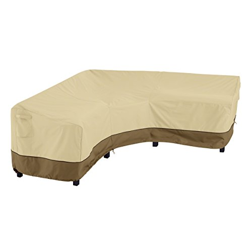 Polyester Sectional Chaise - Classic Accessories Veranda Patio V-Shaped Sectional Sofa Cover, V-Shaped