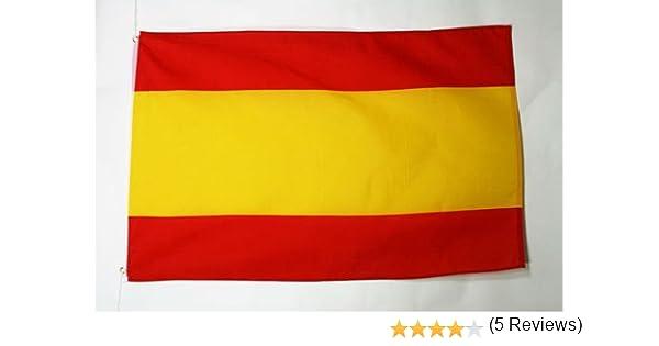 AZ FLAG Bandera de ESPAÑA SIN Armas 90x60cm - Bandera ESPAÑOLA SIN Escudo 60 x 90 cm: Amazon.es: Jardín