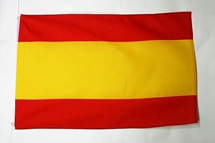 AZ FLAG Bandera de ESPAÑA SIN Armas 90x60cm - Bandera ESPAÑOLA SIN Escudo 60 x 90