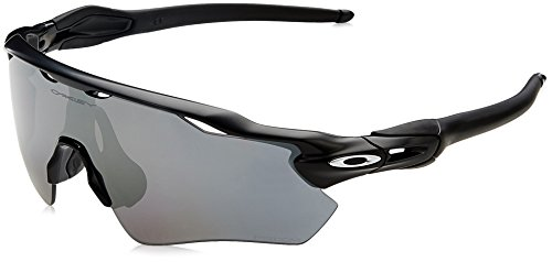 Oakley Men's Radar Ev Path Polarized Iridium Rectangular Sunglasses, Matte Black, 0 mm