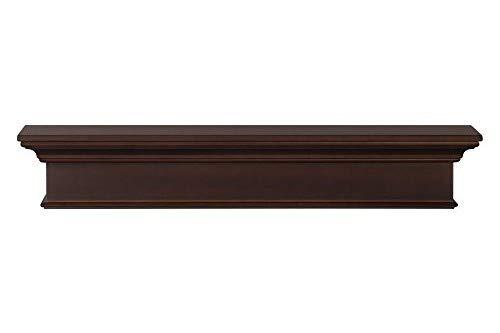 Pearl Mantels 610-72BRN Henry Mantel Shelf, 72-Inch, Chocolate Brown
