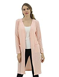 BENANCY Women's Casual Open Front Long Sleeve Knitted Cardigan with Pocket