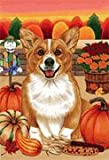 Welsh Corgi – by Tomoyo Pitcher, Autumn Themed Dog Breed Flags 12 x 18 Review