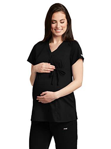 2xl Xxl Scrubs - Grey's Anatomy 6103 Maternity Top Black 2XL