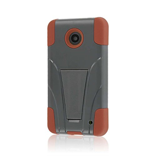 Nokia Lumia 635 Case, MPERO IMPACT X Series Dual Layered Tough Durable Shock Absorbing Silicone Polycarbonate Hybrid Kickstand Case for Lumia 635 [Perfect Fit & Precise Port Cut Outs] - Sandstone / Gray (Compatible with standard back plate, NOT colored shells) (Cases 635 Nokia)