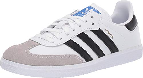 adidas Originals Unisex Samba Og C Sneaker, FTWR White/core Black/Clear Granite, 11K M US Big Kid (White Samba Adidas)